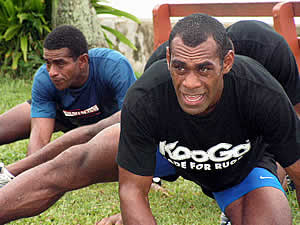 Fiji Rugby workout