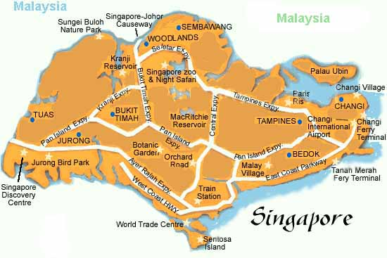 map of S'pore